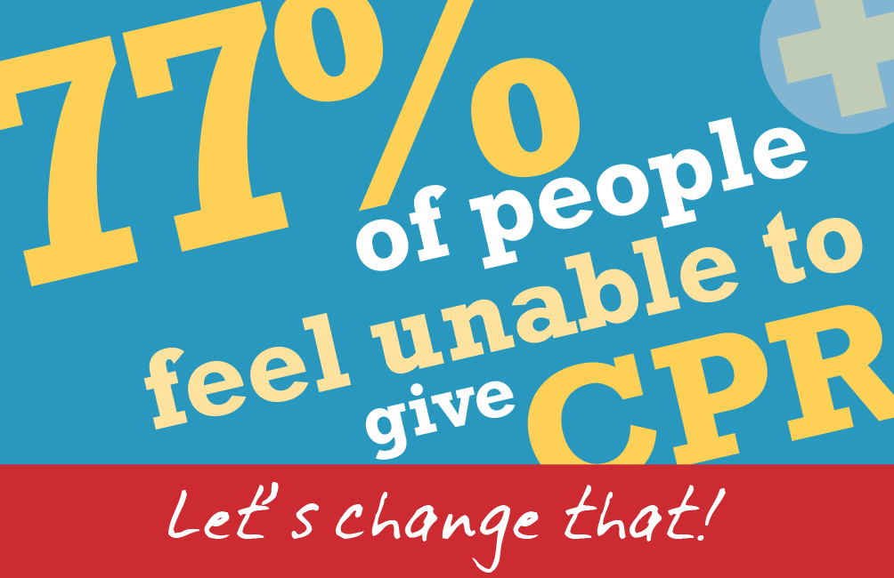 77% of people feel unable to give CPR. Let's change that!
